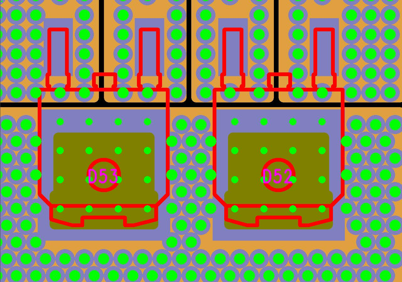 Printed Circuit Board Pcb Design Gendreau Microsystems Inc Wiring Fig 1 Typical Thermal Via Arrangement More Examples